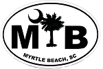 Myrtle Beach South Carolina Oval Car Magnet