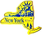 New York Albany Fridge Magnet