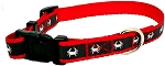 Maryland Blue Crab Small Red and Grey Reflective Dog Collar