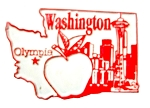 Washington State Outline Fridge Magnet