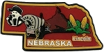 Nebraska Lincoln Multi Color Fridge Magnet