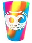 Ocean City Maryland Rainbow Swirl Silipint Silicone Shot Glass
