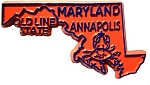 Maryland The Old Line State Fridge Magnet