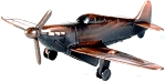 Spitfire Fighter Plane Die Cast Metal Collectible Pencil Sharpener