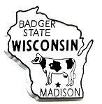 Wisconsin The Badger State Fridge Magnet
