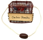 Outer Banks Blue Crab Pot Metal Tree Ornament