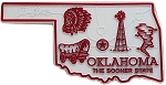 Oklahoma The Sooner State Map Fridge Magnet