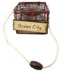 Ocean City Maryland Blue Crab Pot Metal Christmas Tree Ornament