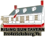 Rising Sun Tavern Fredericksburg Virginia Hat Tac or Lapel Pin