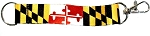 Maryland Flag Keychain Lanyard