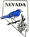 Classic Nevada Bluebird State Outline United States Magnet