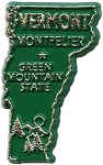 Vermont State Outline Fridge Magnet