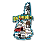 New Hampshire Jumbo Map Fridge Magnet