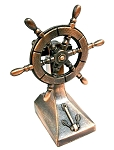 Old Time Ship Steering Wheel Die Cast Metal Collectible Pencil Sharpener