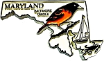 Maryland with Oriole Fridge Magnet