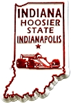 Indiana The Hoosier State Fridge Magnet