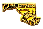 Maryland Annapolis Fridge Magnet