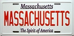 Massachusetts State License Plate Novelty Fridge Magnet