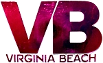 Virginia Beach VB Pink Fridge Magnet