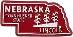 Nebraska The Corn Husker State Fridge Magnet
