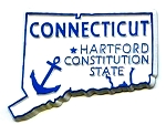 Connecticut The Constitution State United States Fridge Magnet