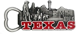 Texas with Alamo Metal Bottle Opener Fridge Magnet