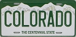 Colorado State License Plate Novelty Fridge Magnet