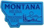 Montana The Treasure State Fridge Magnet