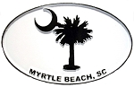 Myrtle Beach Oval Fridge Magnet