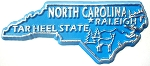 North Carolina the Tar Heel State Souvenir Fridge Magnet