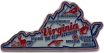 Virginia the Old Dominion State Premium Map Fridge Magnet