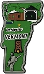 Vermont Multi Color Fridge Magnet