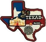 Texas Austin Multi Color Fridge Magnet