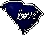 South Carolina Love Artwood Fridge Magnet