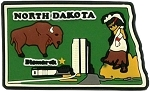 North Dakota Bismarck Multi Color Fridge Magnet
