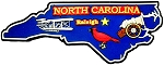 North Carolina Raleigh Multi Color Fridge Magnet