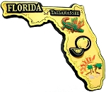 Florida Tallahassee Multi Color Fridge Magnet