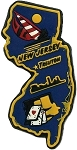 New Jersey Trenton Multi Color Fridge Magnet