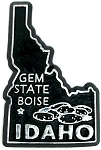 Idaho The Gem State Fridge Magnet