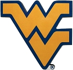 West Virginia Mountaineer's WV Artwood Fridge Magnet