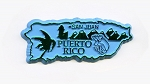 Puerto Rico Outline Fridge Magnet