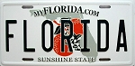 Florida State License Plate Novelty Fridge Magnet