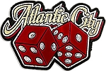 Atlantic City with Dice Fridge Magnet
