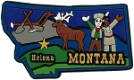 Montana Helena Multi Color Fridge Magnet