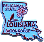 Louisiana The Pelican State Fridge Magnet