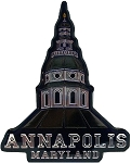 Annapolis Maryland Foil Design Fridge Magnet