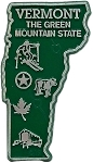Vermont the Green Mountain State Map Fridge Magnet