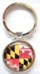 Maryland Flag Bubble Keychain Design 10