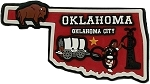 Oklahoma Oklahoma City Multi Color Fridge Magnet