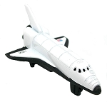 White Space Shuttle Die Cast Metal Collectible Pencil Sharpener